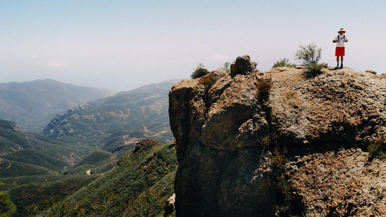 Steve just below the Mt. Allen summit - Let's Photo Trip