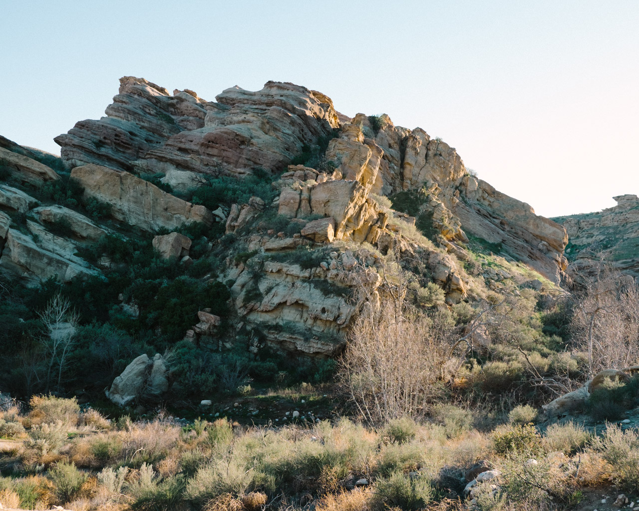 Beautiful light near the end of the day at Vasquez Rocks