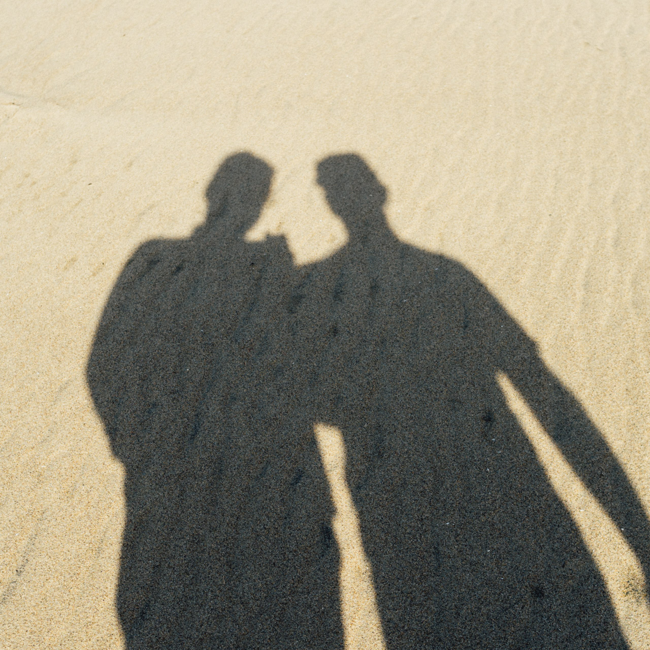 Shadow selfie ~ Photo taken on Fuji x100