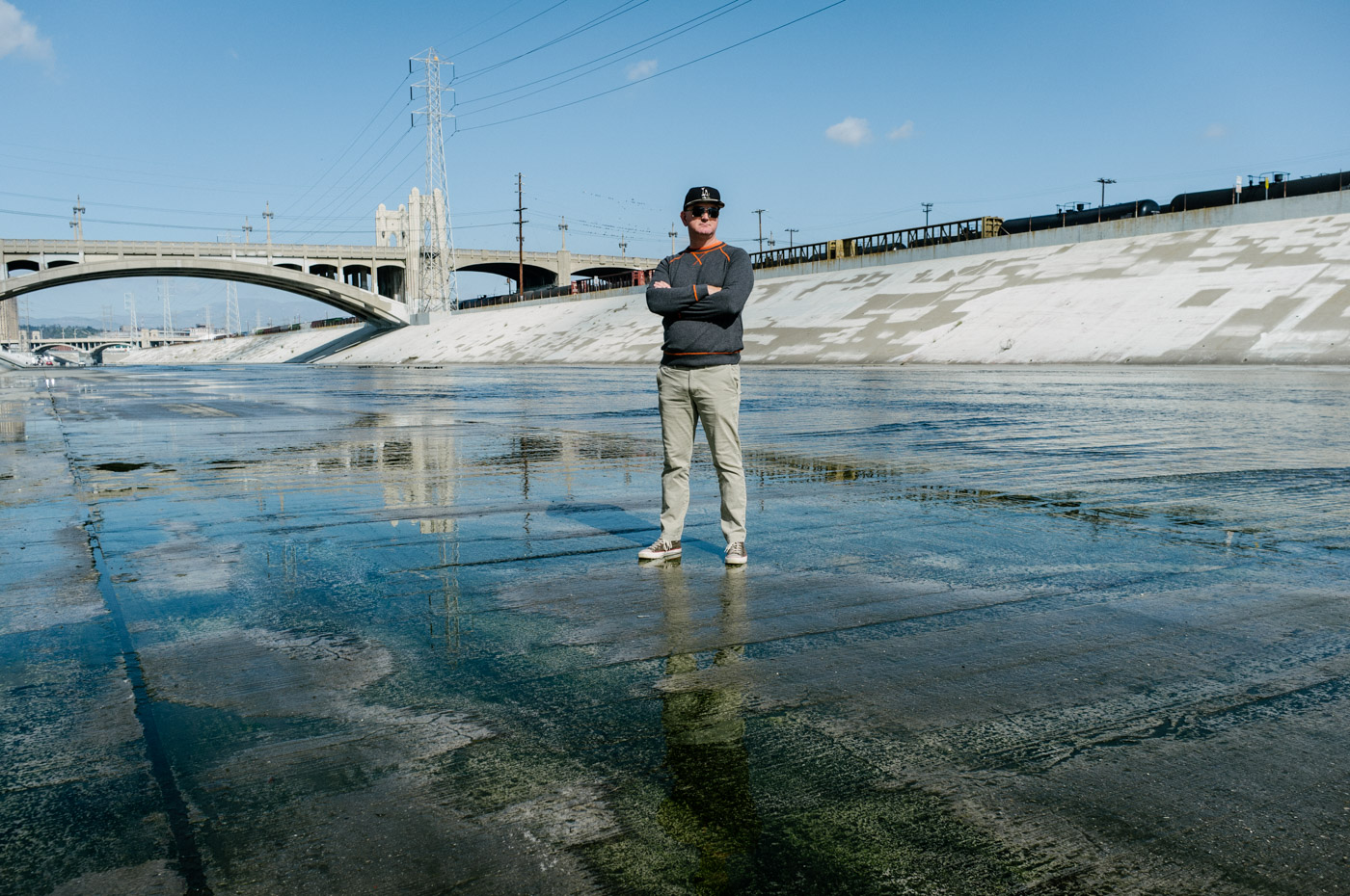 Steve hanging tough in the L.A. River - Let's Photo Trip L.A. River
