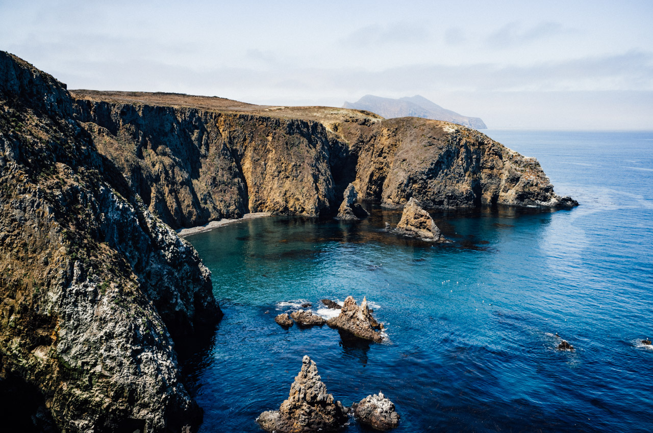Magnificent protected cove on the Anacapa Island's west side. Let's Photo Trip!