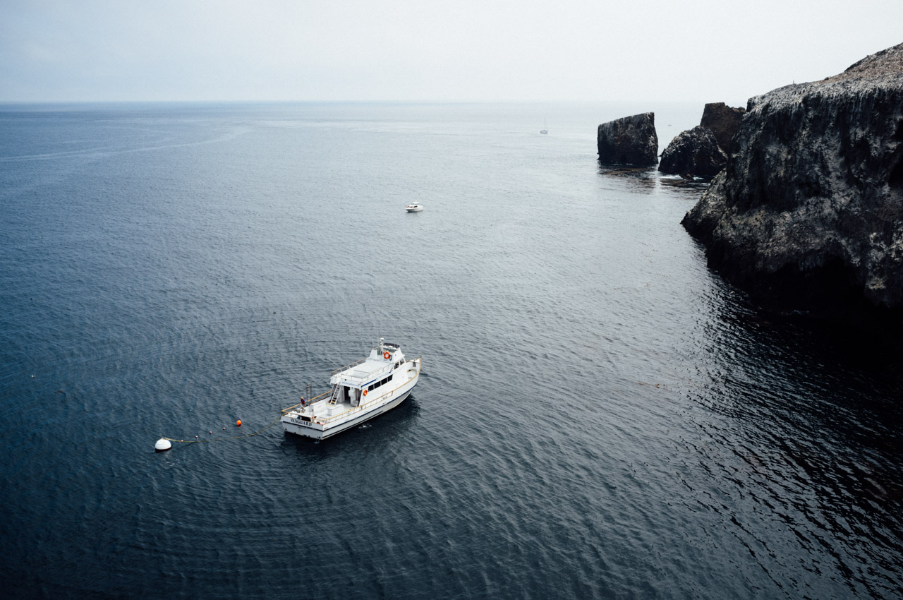 Our ferry anchored in the cove of Anacapa Island. Let's Photo Trip!