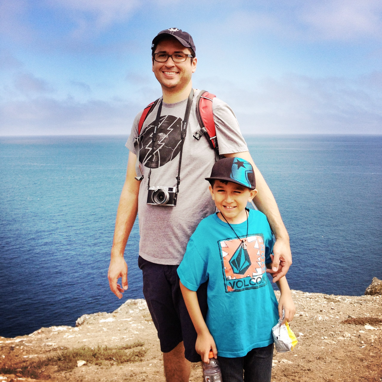 Gabe and Ethan on Anacapa Island. Let's Photo Trip!