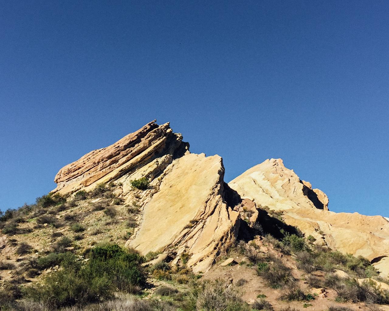 Different views of Vasquez Rocks
