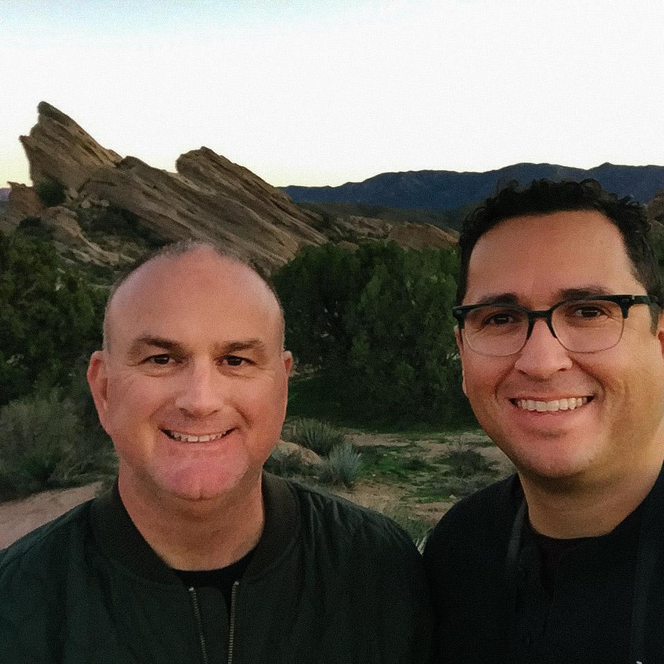 Gabe & Steve, the obligatory end of day selfie.