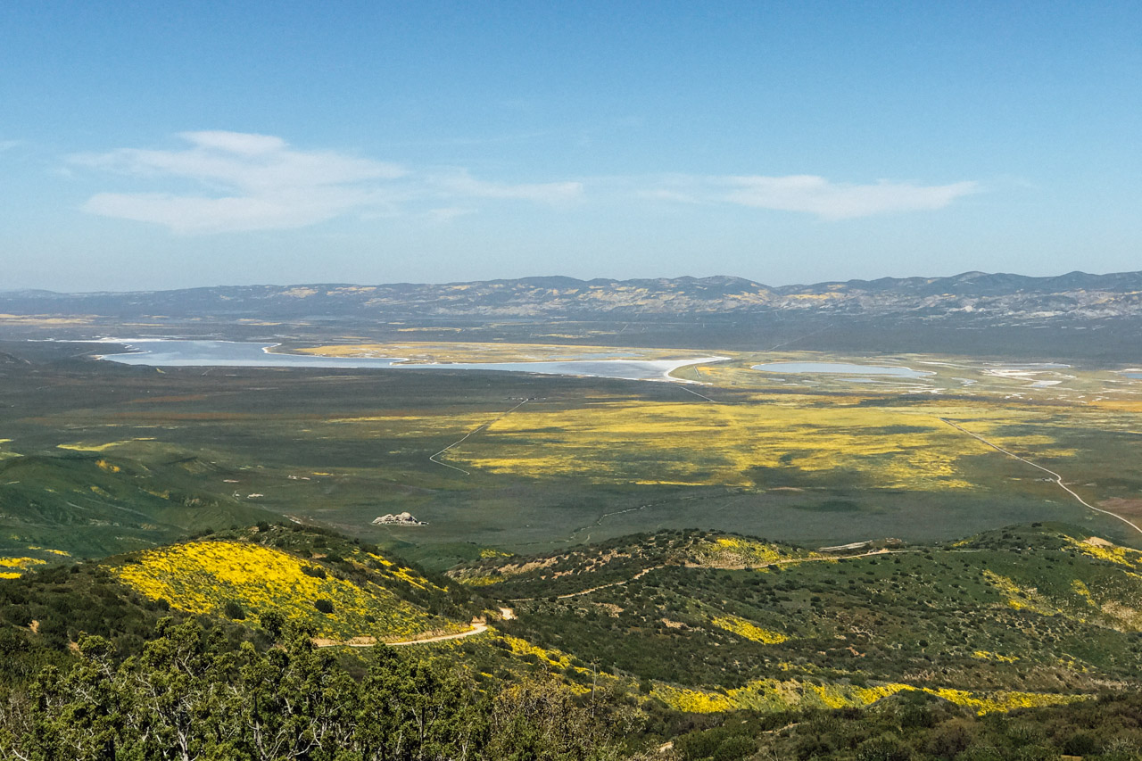 The view from atop Caliente Ridge at Carrizo Plain. Let's Photo Trip