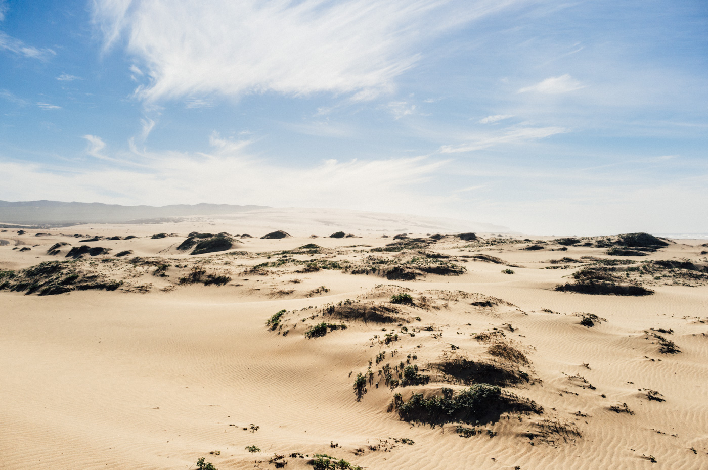Looking south across the Guadalupe Dunes. ~ Photo taken on a Fuji x100