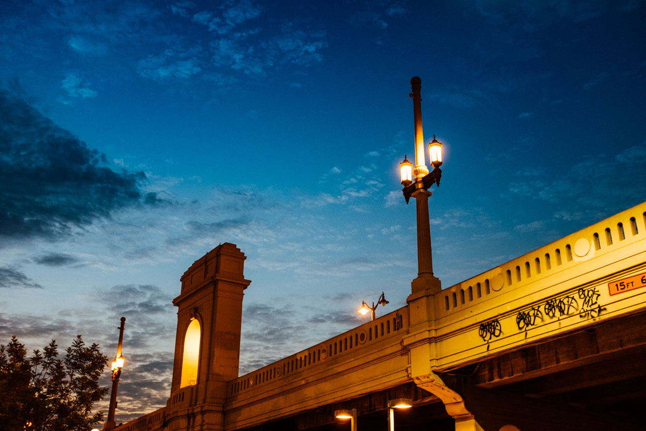 Gothic revival lighting along the 4th Street Bridge - Let's Photo Trip L.A. River